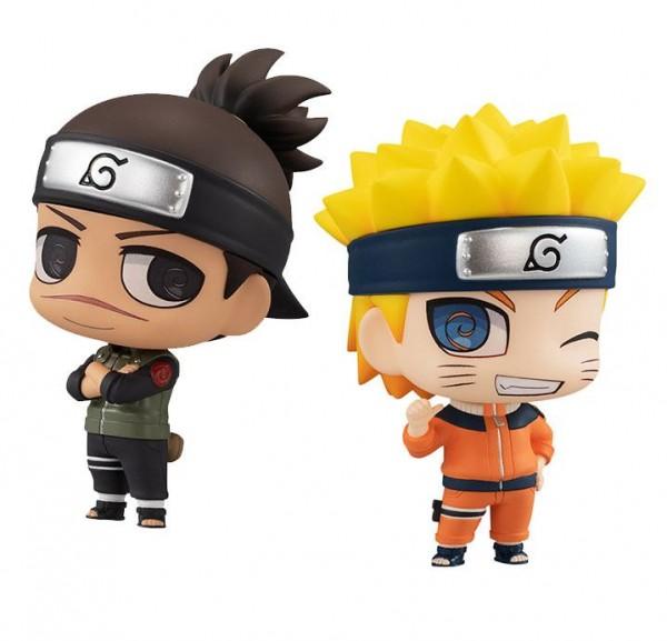 Naruto Chimimega Buddy Series Minifiguren 2er-Pack Umino Iruka & Uzumaki Naruto Set