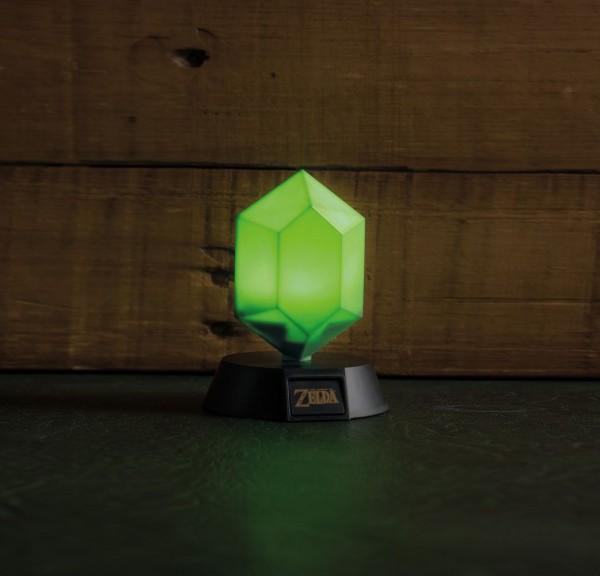 Legend of Zelda 3D Lampe Grüner Rubin