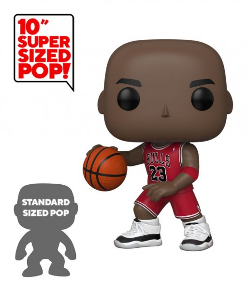 NBA Super Sized POP! Vinyl Figur Michael Jordan (Red Jersey) 25 cm