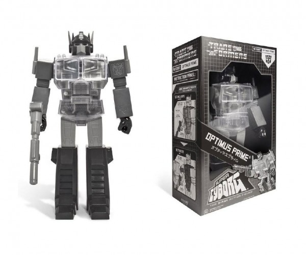Transformers Actionfigur Super Cyborg Optimus Prime Black