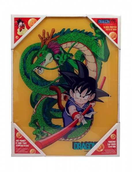 Dragon Ball Z Glas-Poster Kid Goku & Shenron 30 x 40 cm