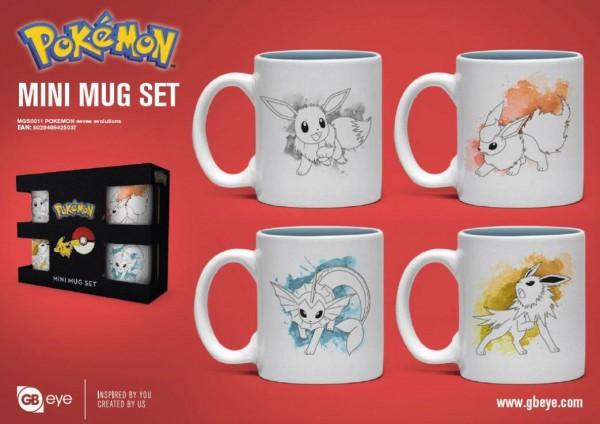 Pokémon Espresso-Tassen 4er-Pack Evoli Evolutions